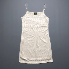 Vintage Fendi Zucca Print Cami Dress by Fendi at Depop