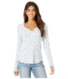 Vintage Floral Thermal Nadine Long Sleeve Henley Top at Zappos