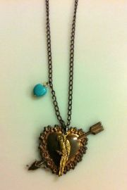 Vintage Heart Necklace at Etsy