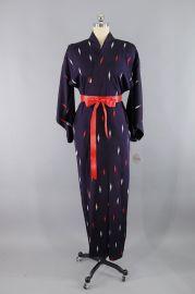 Vintage Ikat Diamond Kimono Robe at This Blue Bird
