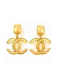Vintage Logo Earrings at Chanel