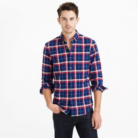 Vintage Oxford Shirt in Haven Blue Plaid at J. Crew