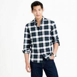 Vintage Oxford Shirt in Warm Spruce Plaid at J. Crew
