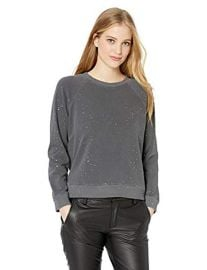 Vintage Raglan W/Splatter Foil Sweater at Amazon