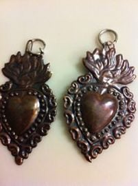 Vintage Sacret Heart Earrings at Etsy