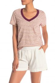 Vintage V-Neck Stripe Tee at Nordstrom Rack