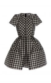 Virgin Wool Houndstooth Mini Dress by Dice Kayek at Moda Operandi