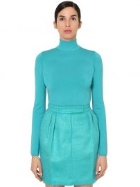 Virgin Wool Knit Turtleneck Sweater by Max Mara at Luisaviaroma
