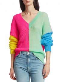 Vivar Colorblock Wool & Mohair-Blend Sweater at Saks Fifth Avenue