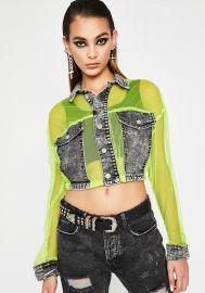 Vivid Grunge Glamour Crop Jacket by Dolls Kill at Dolls Kill