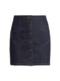 Vivien Heart Pocket Denim Skirt by Cinq a Sept at Saks Fifth Avenue