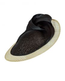 Vivien Sheriff Anything Goes Two-Tone Knotted Disc Hat at Neiman Marcus