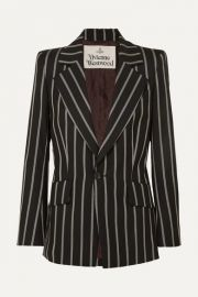 Vivienne Westwood - Lou Lou striped wool blazer at Net A Porter