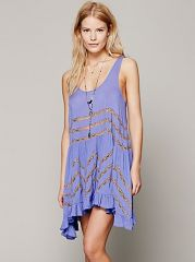 Voile and Lace Trapeze Slip at Free People