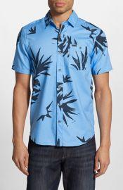 Volcom Pina Trim Fit Short Sleeve Print Woven Shirt at Nordstrom