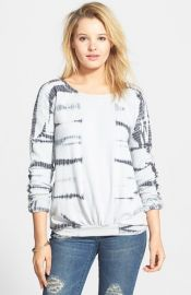 Volcom and39Do or Dyeand39 Tie Dye Pullover in white at Nordstrom