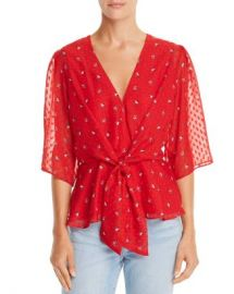 WAYF Amora Tie-Front Floral Print Top  Women - Bloomingdale s at Bloomingdales
