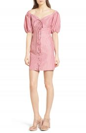 WAYF Frankie Lace-Up Minidress at Nordstrom
