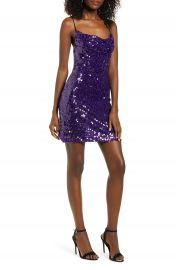 WAYF Rocky Sequin Cowl Neck Minidress   Nordstrom at Nordstrom