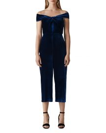 WHISTLES CONTANZA VELVET JUMPSUIT at Bloomingdales