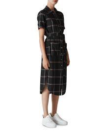 WHISTLES MONTANA CHECK SHIRT DRESS at Bloomingdales