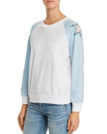 WILDFOX Starbright Embroidered Sweatshirt  at Bloomingdales
