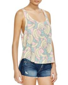 WILDFOX Banana Print Tank at Bloomingdales