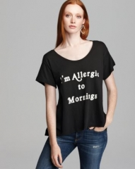 WILDFOX Tee - Iand039m Allergic to Mornings Lazy Weekend at Bloomingdales