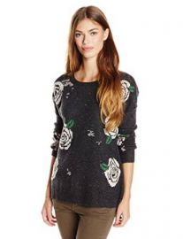 WILDFOX Womenand39s Venice Canal Shredded Roses Sweater at Amazon