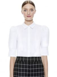 WILLA SCRUNCH SLEEVE TOP at Alice + Olivia