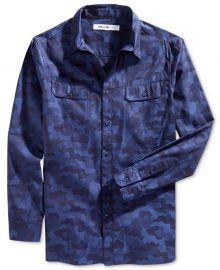 WILLIAM RAST Baker Camouflage Shirt blue at Macys