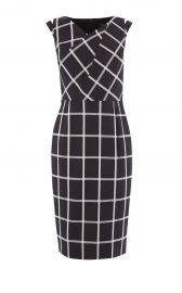 WINDOWPANE CHECK DRESS at Karen Millen