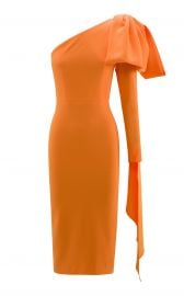 Wade Bow-Accented Crepe Midi Dress by Alex Perry at Moda Operandi