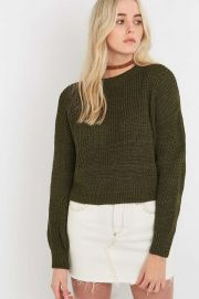 Waffle Knitted Fisherman Jumper at Urban Outfitters
