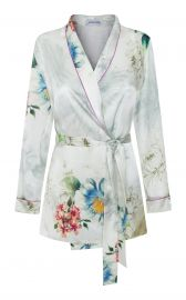 Waldorf Floral Silk Satin Pajama Top by Adriana Iglesia at Moda Operandi