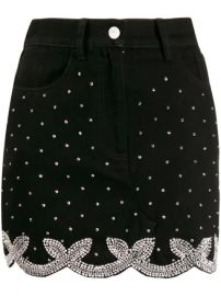 Wandering Crystal Embellished Mini Skirt  - Farfetch at Farfetch