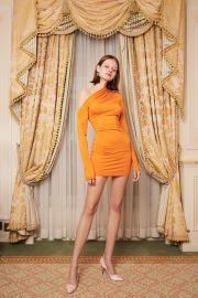 Warp Dress in Orange by Daisy at Daisy