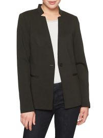 Washable Ponte Inverted Collar Blazer at Banana Republic