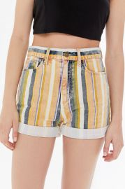 Washed Striped Denim Shorts by BDG at Urban Outfitters