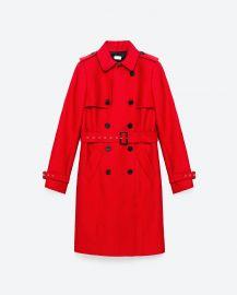Water Resistant Trench Coat at Zara