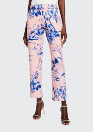 Watercolor Floral Crop Pants at Bergdorf Goodman