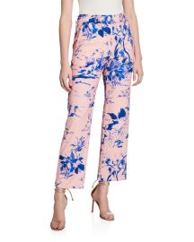 Watercolor Floral Crop Pants at Neiman Marcus