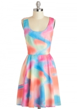 Watercolor style dress at Modcloth at Modcloth