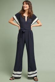 Watson Striped Jumpsuit at Anthropologie