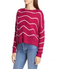 Wave Stripe Pointelle Stitch Cashmere  Silk Sweater by Autumn Cashmere at Nordstrom