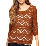 Wave knit sweater from JCP at JC Penney