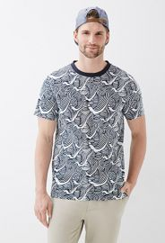 Wave print tee at Forever 21