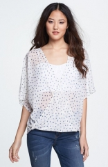 Wayf Dolman Sleeve Wrap Blouse at Nordstrom