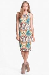 Wayf Print Body-Con Tank Dress at Nordstrom