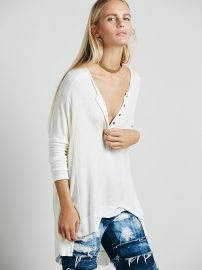 We The Free   Benedict Canyon Henley in Cream at Free People